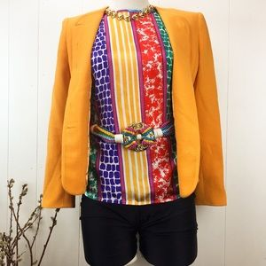 VTG 80s Multi-Colored Patterned Button Down Blouse